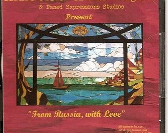 Awesome Stained Glass Pattern Mix! Paned Expressions From Russia With Love CD