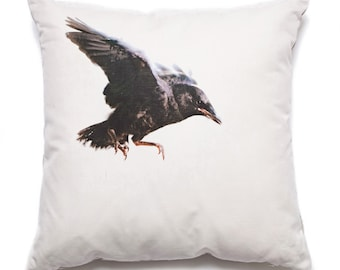 Throw Pillow Baby Crow