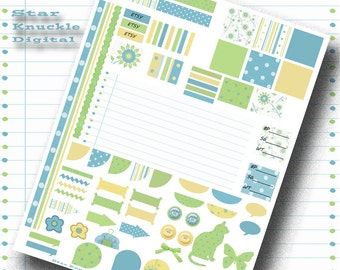 Printable Planner Stickers Planner Sampler Planner Printables Digital Scrapbooking Weekly Planner Accessories Instant Digital Download