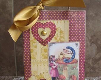 Alice in Wonderland Gift Bag - Treat Bag - Vintage