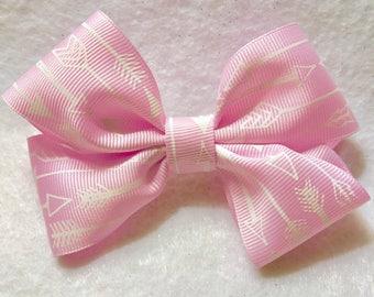 Girly Pink Arrow Hair Bow