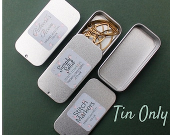Tin box, metal box, storage tin, metal tin box, small tin box, collectible tin box, storage box, tin container, pill box, tin storage box