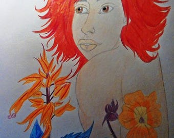 Wolfs Blossom: Original portrait of Lyca