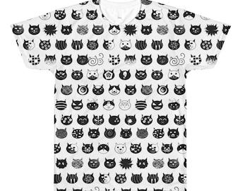 All-Over Printed Cat T-Shirt, Cat Shirt, Cat Lover Gift, Cat tshirt, Cat Lady Shirt, Cute Cats Shirt, Cat Lover Christmas Gift, Men cat gift