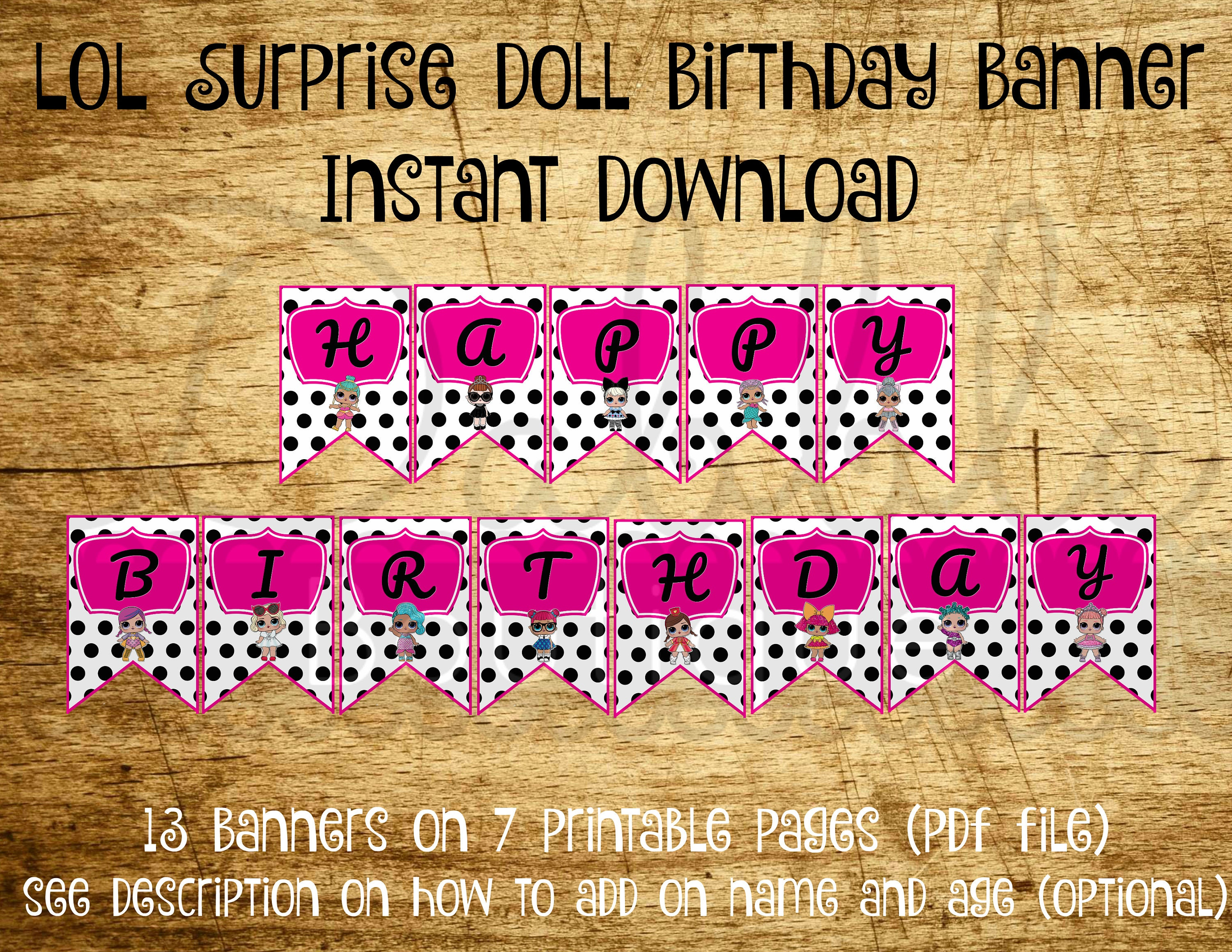 Excellent L.O.L Surprise Birthday Banner / LOL Surprise Doll Birthday / LOL  MO54