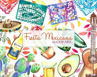 Fiesta Cute Digital Clipart, Spanish Mexican Clipart, Mexican Graphics, Cinco de Mayo Graphics, Sombrero Clip art, Fiesta Clip Art, Maracas