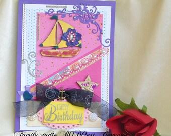 Happy Birthday card. Baby boy card. First Birthday party. Cute Birthday card. Boys Birthday. 3rd Birthday. Children birthday. Gift for kids.