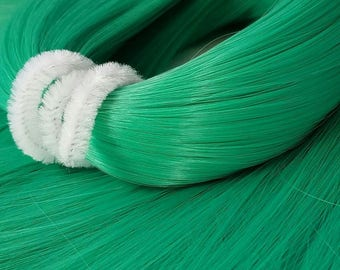 Jaded Green Jade Bright Nylon Doll Hair Hank for Rerooting Barbie® Monster High® Ever After High® My Little Pony Fashion Royalty Disney