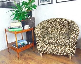 Ikea Tullsta Tub Chair Cover In Beautiful Giraffe Faux Fur