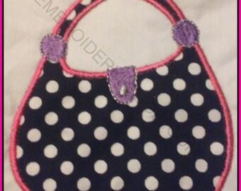 Handbag 1 Purse Machine Applique design