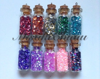 Glitter Bottle Charms