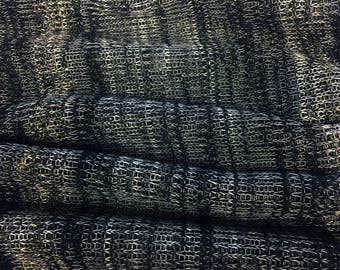 Light Weight Sweater Knit With Gold Lurex Fabric