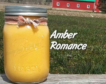 Amber Romance Soy Candle in 16 oz Jar
