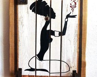 WOOD/coat hook ••∆•• Tableau Deco Africainamaste ••∆••