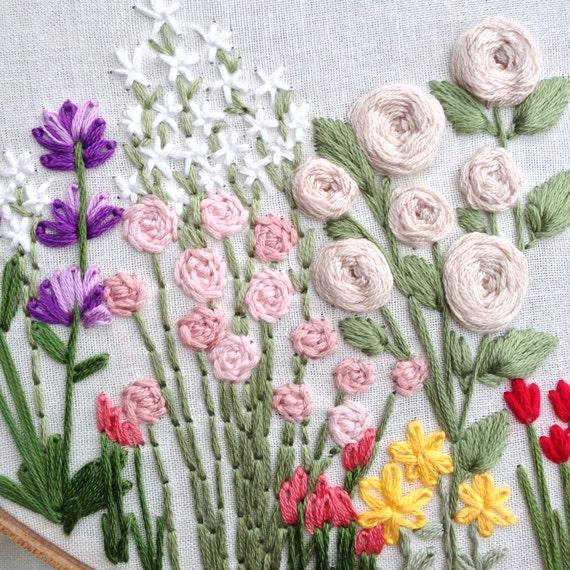 Wildflowers Hand Embroidery Pattern Beginner Pattern Flower