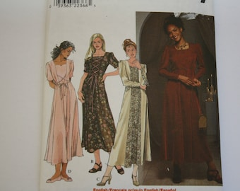 Princess Seam Dress Pattern /Sewing Pattern, fit and flare dress, lace overlap option, UNCUT Simplicity 8471