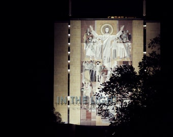 Notre Dame Hesburgh Library at night - Fine Art Photography