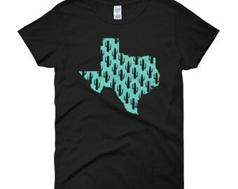 Texas map cactus shirt