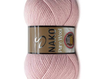 Nako pure wool, wool yarn, crochet yarn, hat yarn, scarf yarn, crochet, sweater yarn, nako, accessories yarn