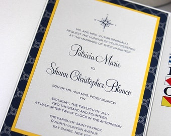 Nautical Wedding Invitations - Tying the Knot