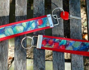 Wristlet Key Chain - Red Berries