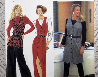 Simplicity 8551, Misses' Jumper, Vest and Pants Sewing Pattern, Misses' Sewing Pattern, Misses' Size 12 - 16, Uncut