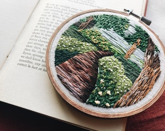 "Embroidery Hoop Art, ""The Story Forest"""