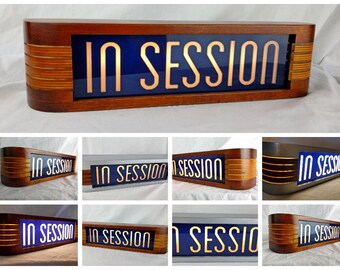 Blue In Session Recording studio warning sign
