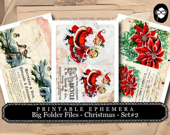 Christmas Clipart - Big Folder Files - Christmas #2 - 3 Pg Instant Download - clipart christmas, clip art christmas, tsunamirose
