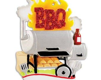 BBQ Smoker Ornament  BBQ Ornament  Grilling Ornament  Grill Lover  Personalized Christmas Ornament