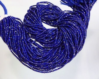 17-inch AAA quality Natural Lapis Lazuli micro faceted rondelle beads size 2.5mm GW2457