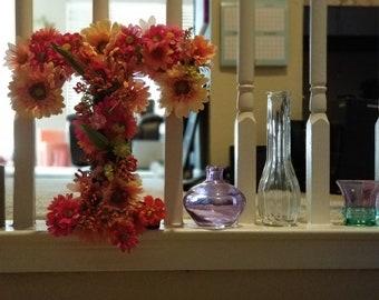Floral Letter T Decor