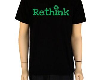 REPENSER le symbole T-Shirt-recycler - 100 % coton-Funny Geek chemise -S-2XL cadeau pour lui