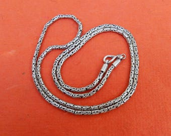 Borobudur Chain solid sterling Silver necklace, Handmade silver necklace, Man jewelry, chain necklace, request your length , jewelry gift