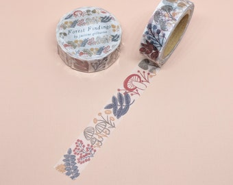 Forest Findings Washi Tape | Japanese Washi Tape, Masking Tape, Paper Tape, Stationery, Cute Tape, Forest Tape, OEM Masking Tape