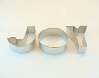 JOY Letters Cookie Cutter Set