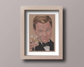 Leonadro Dicaprio in The Great Gatsby, A4, Art print