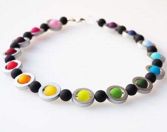 rainbow necklace polaris necklace colorful