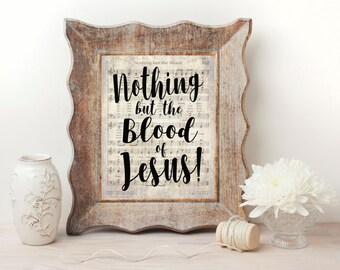 Nothing But the Blood Hymn Wall Art