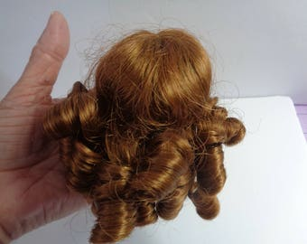 Auburn Doll Wig- 6-7 Inch Doll Wig-  NEW old stock- Vintage doll wig