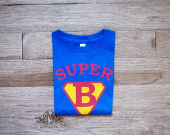Personalized superhero birthday shirt, superman birthday shirt, birthday boy shirt