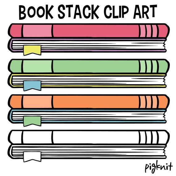 book clip art school book clip art childrens library decor stack rh etsystudio com library books clip art black and white library book return clipart