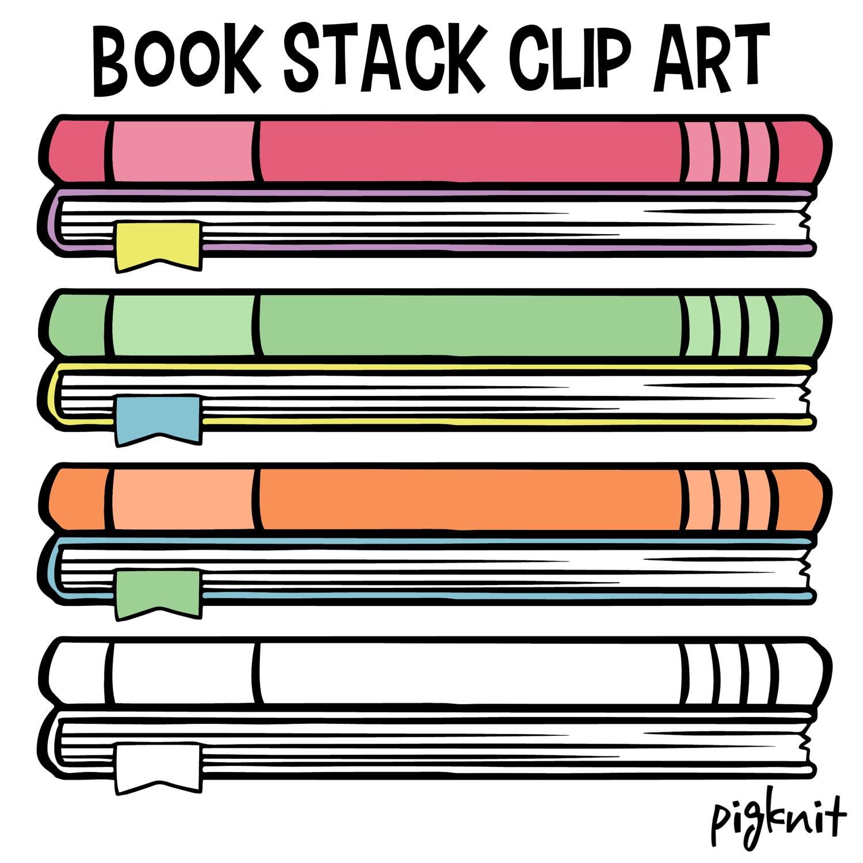 book clip art school book clip art childrens library decor stack rh etsystudio com
