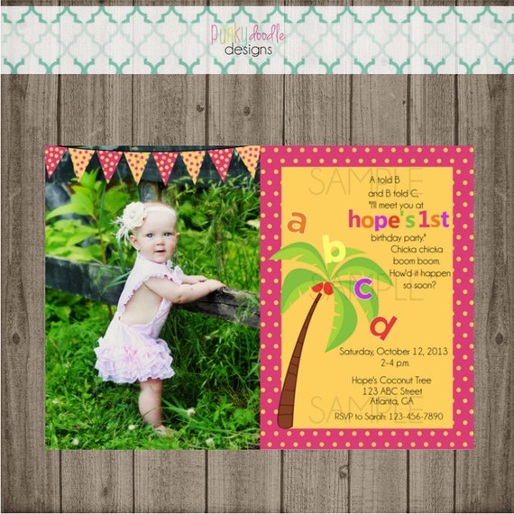 Chicka Chicka Boom Boom Birthday Invitations Chicka Chicka