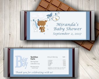 It's A Boy, Boy Baby Shower, Candy Bar Wrapper, Baby Shower, Baby Shower Decor, Gender Reveal, Oh Baby, Party Favor, Blue Baby Shower