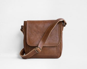 Mini sac à bandoulière en châtaignier son sac à bandoulière brun sac à main / sac de messager sac à main en cuir rouge / cartable en cuir / sac à main en cuir