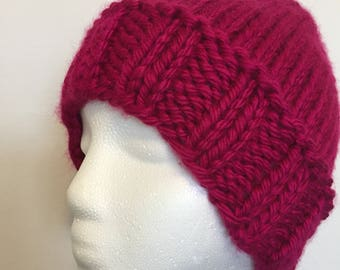 Knit Stocking Hat, Warm and Cozy Stocking Hat, Chunky Knit Hat, Knit Beanie, Womens Chunky Knit Hat, Soft and Squishy Hat, Gift for H