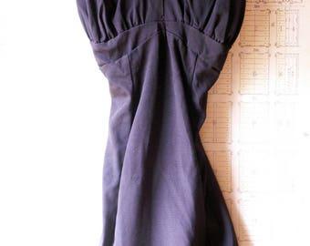 Vintage Womens Black One Piece Swimsuit - Retro Pinup Bathing Suit