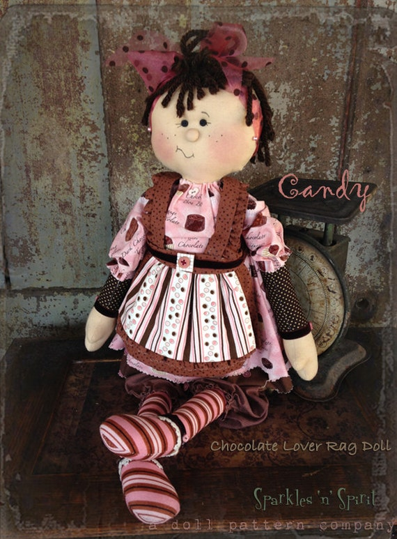 "Pattern: Candy - 22"" Raggedy Doll"