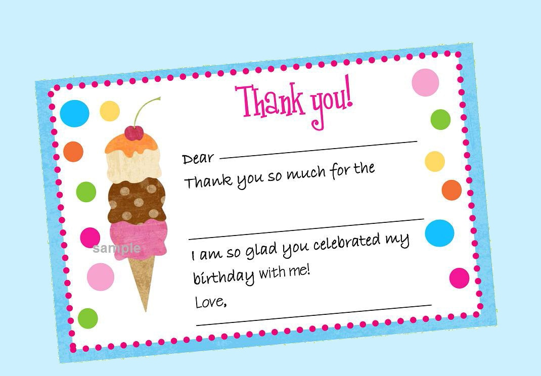 Ice cream thank you note fill in instant download ice cream zoom kristyandbryce Choice Image